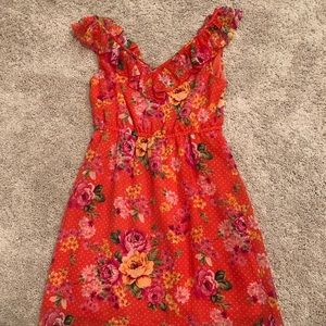 Forever21 pink and peach floral dress